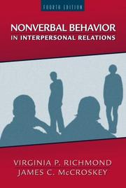 Cover of: Nonverbal communication in interpersonal relations