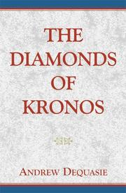Cover of: The Diamonds of Kronos | Andrew Dequasie, Rew Dequasie