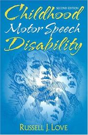 Cover of: Childhood motor speech disability