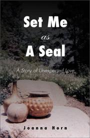 Cover of: Set Me As A Seal