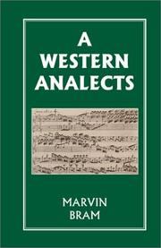 Cover of: A Western Analects | Marvin Bram