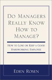 Cover of: Do Managers Really Know How to Manage?