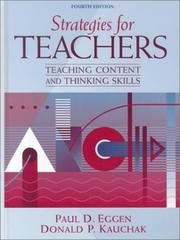 Strategies for Teachers by Paul D. Eggen