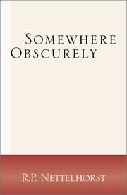 Cover of: Somewhere Obscurely