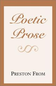 Cover of: Poetic Prose