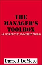Cover of: The Manager's Toolbox