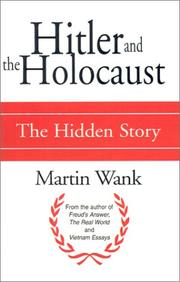 Cover of: Hitler and the Holocaust | Martin Wank