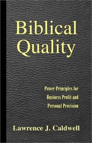 Cover of: Biblical Quality