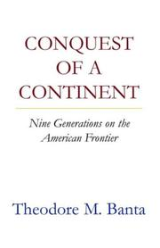 Cover of: Conquest of a continent