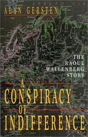 Cover of: A conspiracy of indifference | Alan Gersten