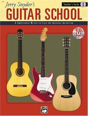 Cover of: Jerry Snyder's Guitar School, Teacher's Guide Book 1