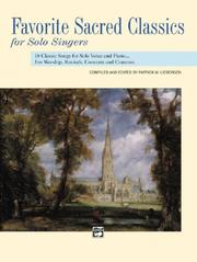 Cover of: Favorite Sacred Classics for Solo Singers (Favorite Classics for Solo Singers)