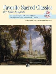 Cover of: Favorite Sacred Classics for Solo Singers (Favorite Classics for Solo Singers) with CD med/high voice