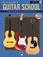 Cover of: Jerry Snyder's Guitar School, Method Book 2 (Jerry Snyder's Guitar School)