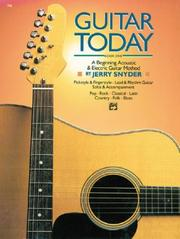Cover of: Guitar Today, Book 1