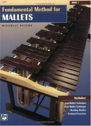 Cover of: Fundamental Method for Mallets, Book 1