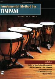 Cover of: Fundamental Method for Timpani