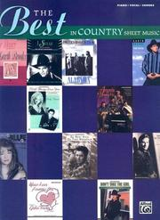 Cover of: The Best in Country Sheet Music | Alfred Publishing