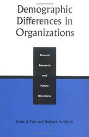 Cover of: Demographic Differences in Organizations
