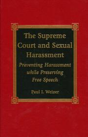 Cover of: The Supreme Court and sexual harassment