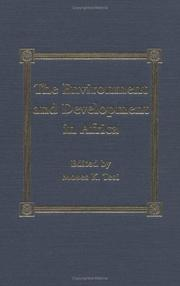 Cover of: The  Environment and Development in Africa