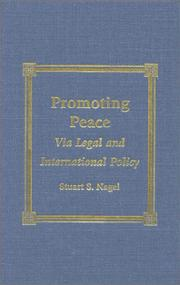 Cover of: Promoting peace