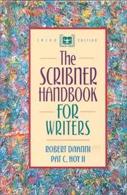 Cover of: The Scribner handbook for writers