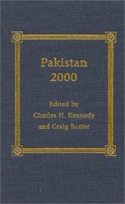 Cover of: Pakistan 2000 | Craig Baxter