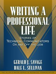 Cover of: Writing a Professional Life | Gerald J. Savage