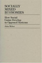 Cover of: Socially Mixed Economies