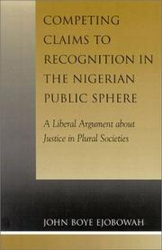 Cover of: Competing Claims to Recognition in the Nigerian Public Sphere