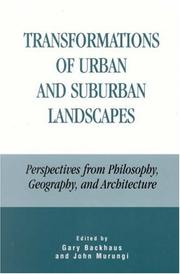 Cover of: Transformations of Urban and Suburban Landscapes