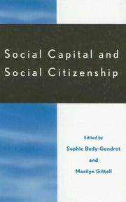 Cover of: Social Capital and Social Citizenship