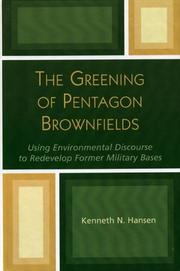 Cover of: The Greening of Pentagon Brownfields
