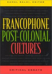 Cover of: Francophone post-colonial cultures by