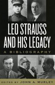 Cover of: Leo Strauss and His Legacy