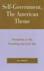 Cover of: Self-Government, The American Theme