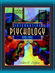 Cover of: InterActive Psychology Online | Lester A. Lefton