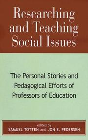 Cover of: Researching and Teaching Social Issues