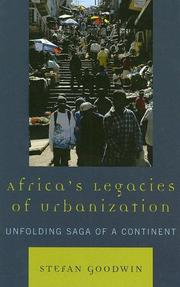 Cover of: Africa's Legacies of Urbanization
