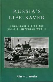 Cover of: Russia's life-saver: lend-lease aid to the U.S.S.R. in World War II