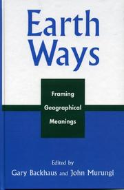 Cover of: Earth Ways