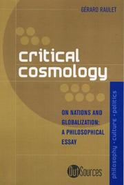 Cover of: Critical Cosmology