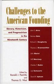 Cover of: Challenges to the American founding |