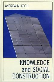 Cover of: Knowledge and Social Construction