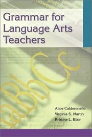 Cover of: Grammar for language arts teachers