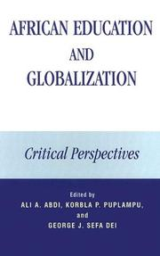 Cover of: African Education and Globalization