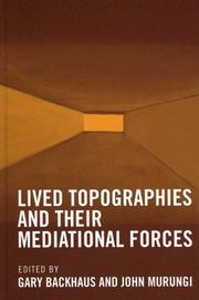 Cover of: Lived Topographies