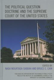 Cover of: The Political Question Doctrine and the Supreme Court of the United States