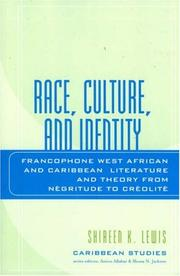 Cover of: Race, Culture, and Identity | Shireen K. Lewis